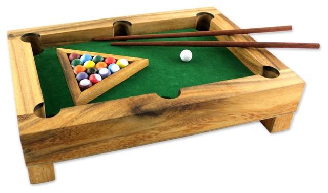 Novica Best Of Billiards Wood Mini Billiards Game Transitional Game Tables By Novica