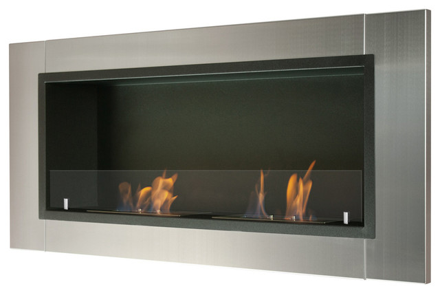 Bio Ethanol Fireplace With Safety Glass.
