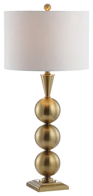 "Mackenzie 33"" Metal Table Lamp, Brass."