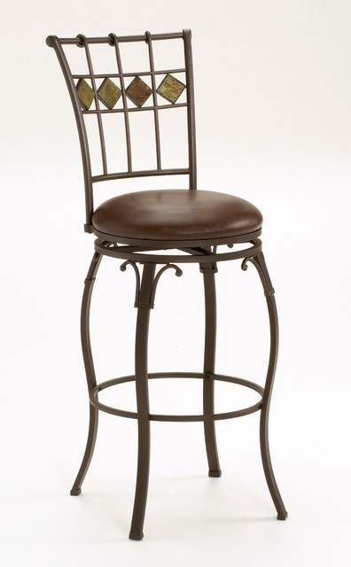 Outstanding Lakeview Swivel Counter Stool Slate Accent Brown Caraccident5 Cool Chair Designs And Ideas Caraccident5Info