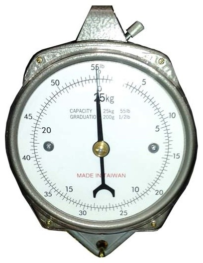 Accuzen Hanging Mechanical Dial Scale, 50 Pound.