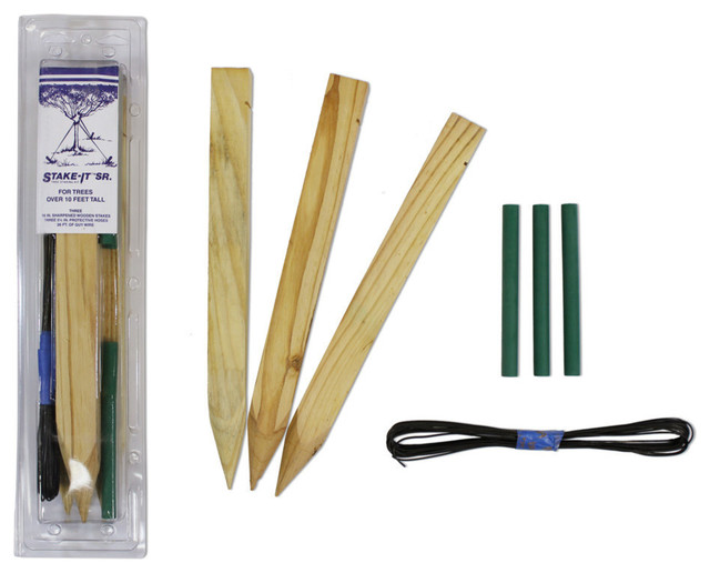 Senior wire tree guying 4503w stake it tree staking kit for Gardening tools and accessories