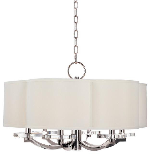 Hudson Valley Pn Garrison Light Chandelier In Polished