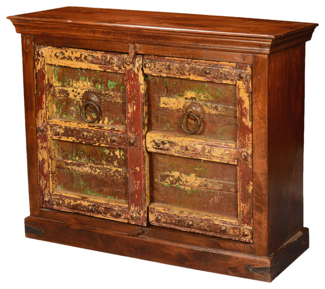 Awesome Gothic Times Reclaimed U0026 Mango Wood Console Cabinet Buffet Eclectic Storage  Cabinets