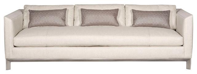 Vanguard Furniture Nuzzle Linen Cooper Sofa.