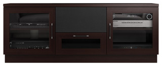 """60"""" Contemporary TV Stand Media Console, Wenge"""