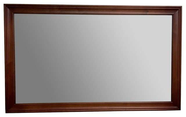 Ronbow Transitional Solid Wood Framed Bathroom Mirror