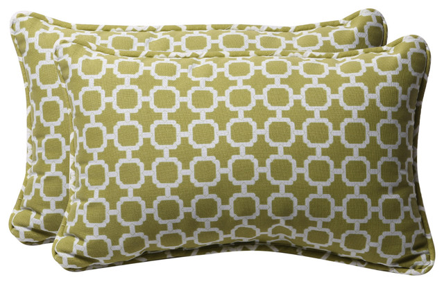 Hockley Rectangle Throw Pillow, Set of 2, Green