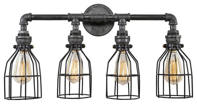 industrial vanity light fixtures west ninth vintage industrial vanity light bathroom