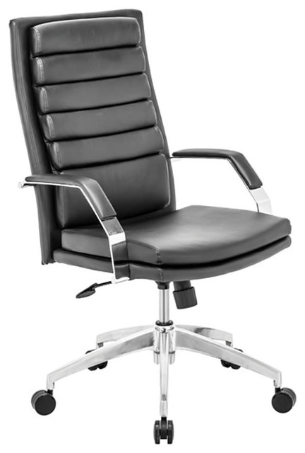 zuo home meeting room furniture director comfort office chair black - Gray Leather Office Chair