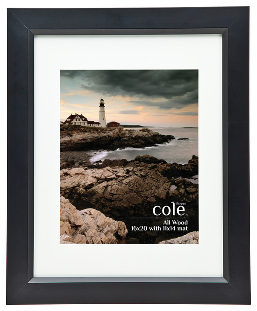 "Simple Black Wall Frame With Matting, 11""x14"""