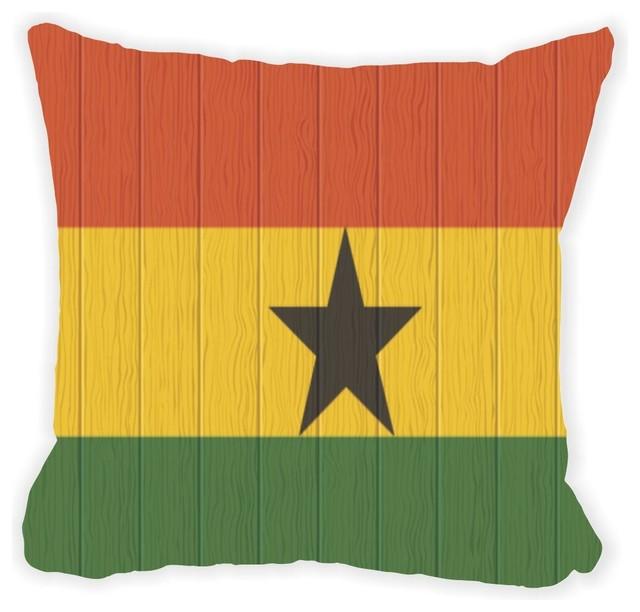 Throw Pillows Jysk : Shop Houzz Rikki Knight LLC Ghana Flag On Distressed Wood Microfiber Throw Pillow - Decorative ...
