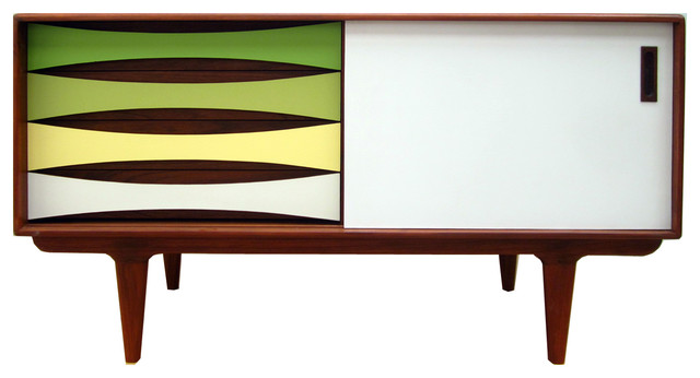 Bowery & Grand Durand Media Console - Midcentury - Media Cabinets ...