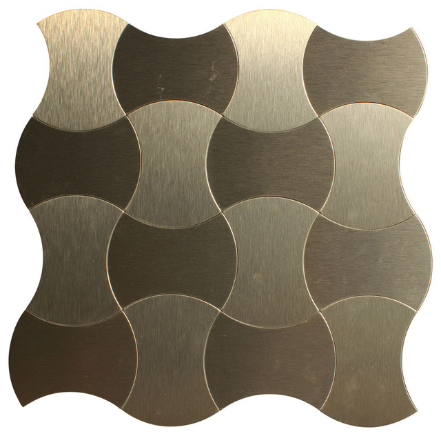 Moroccan Style Aluminum L And Stick Mosaic Tile 11 X11 Rose Gold
