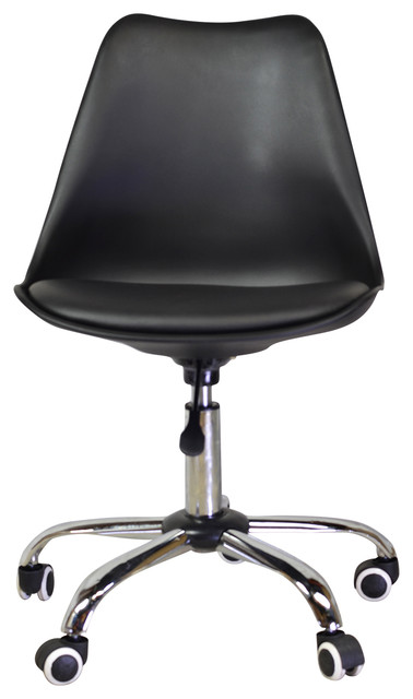 jacob office chair with aluminum legs black midcentury office chairs