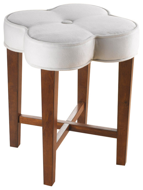 Clover Vanity Stool Contemporary Vanity Stools And Benches By Hillsdale Furniture