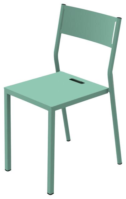 Zef Dining Chair, Aluminium, Celadon