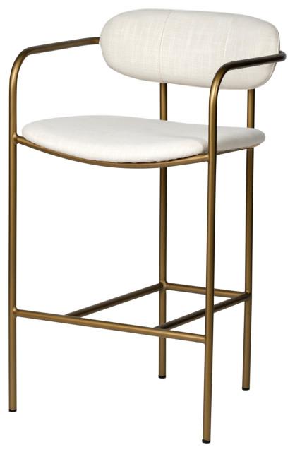 Parker Stool, Brass Frame, Counter