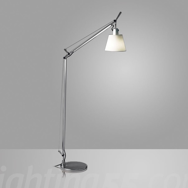 Artemide Tolomeo With Shade Reading Floor Lamp Modern