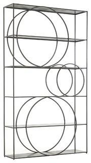 Danny Industrial Loft Geometric Metal Bookcase