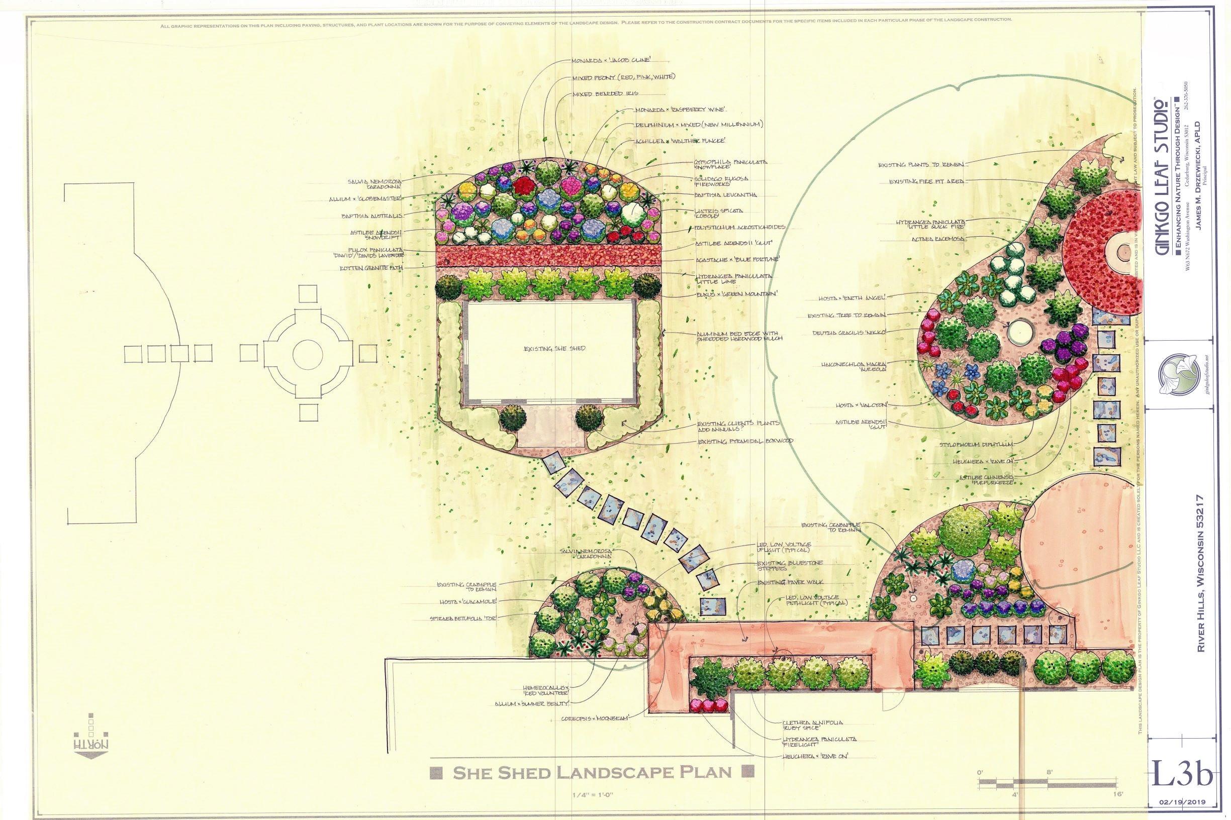 Traditional Backyard Landscape - River Hills