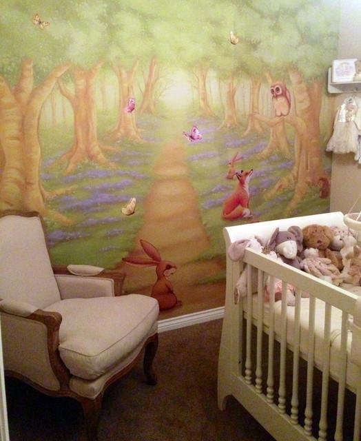 Modern Nursery Wallpaper: Woodland Nursery Wall Mural