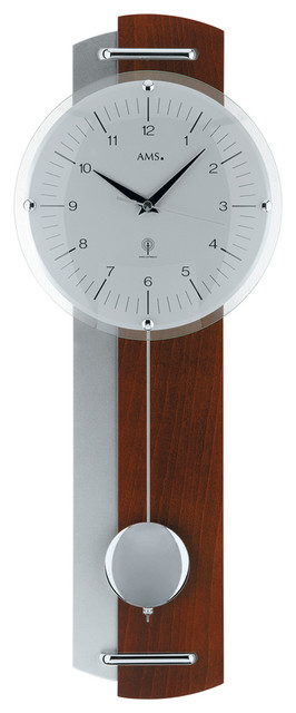 Polybios Radio Controlled Pendulum Wall Clock Traditional Wall