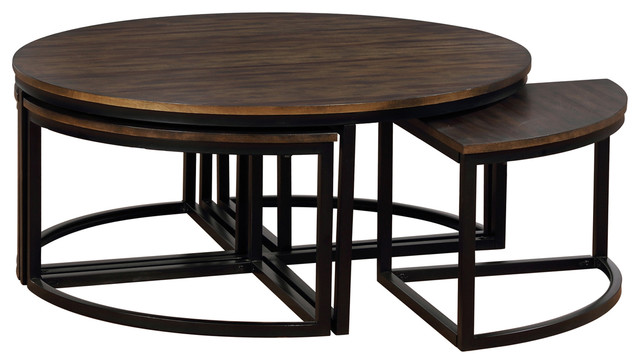 Round Coffee Table With Nesting Tables