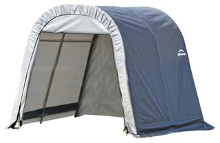 10'x12'x8' Round Style Shelter, Gray