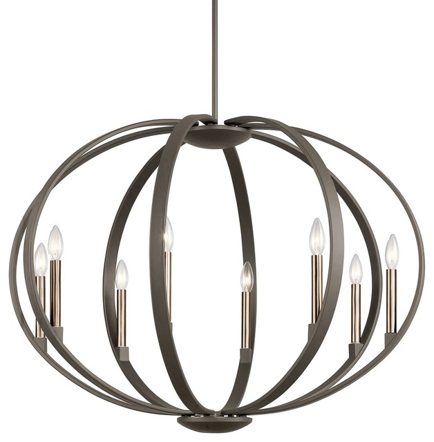 Kichler Lighting Elata Olde Bronze Chandelier Round Pendant With 8 Light 60w
