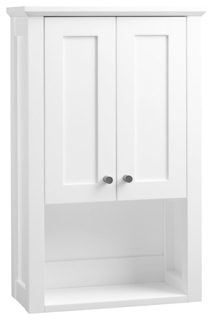 Shaker Bathroom Wall Cabinet, White - Transitional - Medicine Cabinets ...