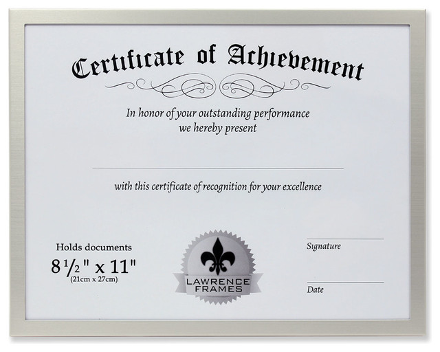 8.5 x 11 2-Pack Basics Certificate Document Frame With Mat Black