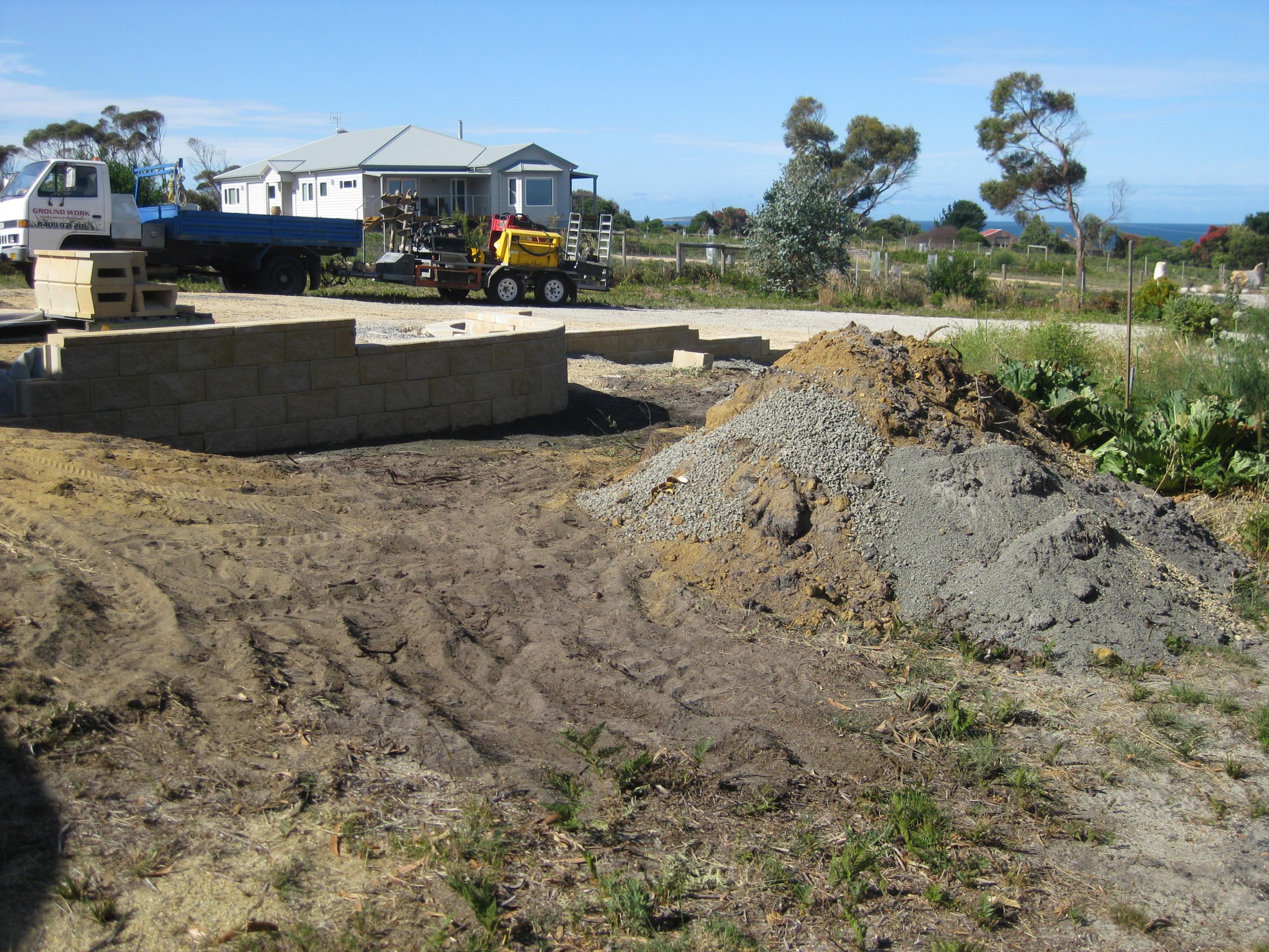 Landscaping and drainage - Beaumaris