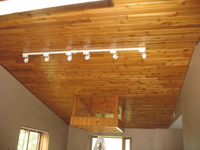 Perfect Farmhouse Cedar Ceiling Traditional