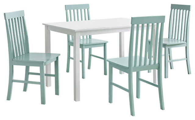 Grayson 5 Piece Dining Set White and Sage Beach Style  : beach style dining sets from www.houzz.com size 640 x 394 jpeg 48kB