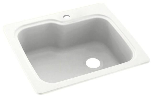 Swan 25x22x9 Solid Surface Kitchen Sink 1 Hole Kitchen