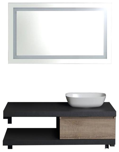 Modular Wall-Mounted Bathroom Vanity Unit With Sink, 120 cm
