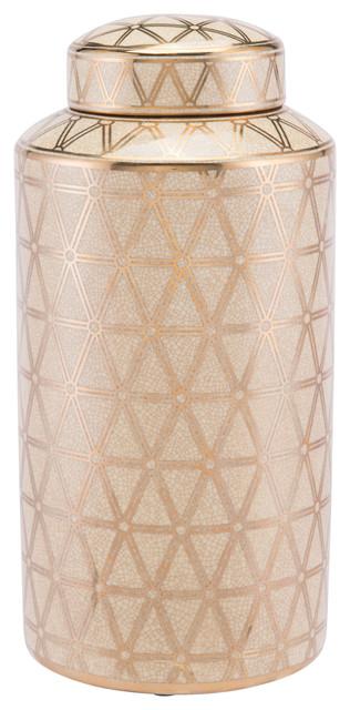 Zuo Modern A1106L Link Ceramic Covered Large Jar