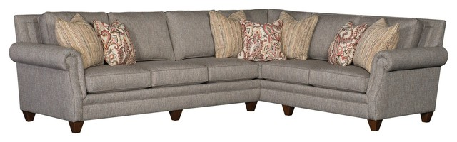 85 Walepole Sectional, Gray.