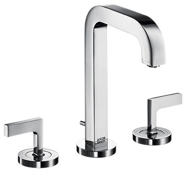 Hansgrohe-39135001 Axor Citterio Widespread Faucet Set with Lever Handles in Chr