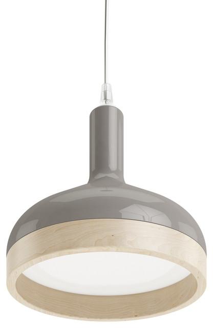 Henry Funnel Pendant Light, Gray.