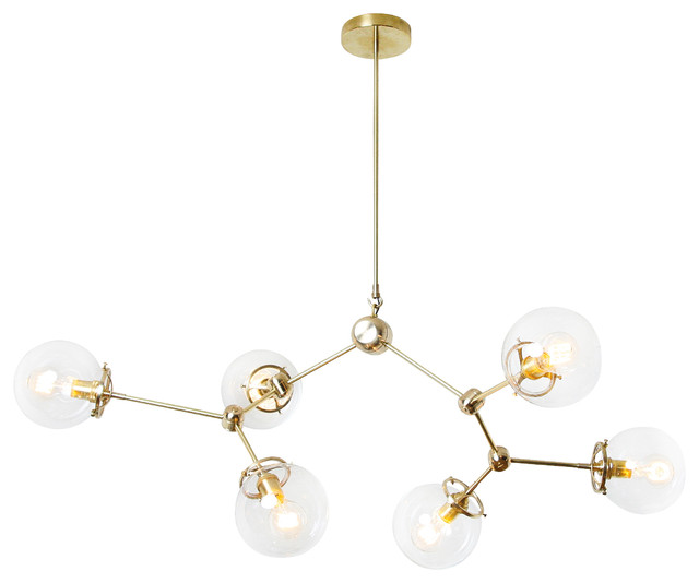 Elemental No 6 Pendant Light Brass