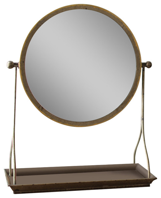 Attractive Metal Frame Table Mirror With Stand