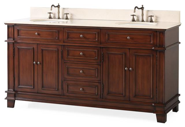 70 Sanford Double Sink Classic Bath, 56 Bathroom Vanity Double Sink