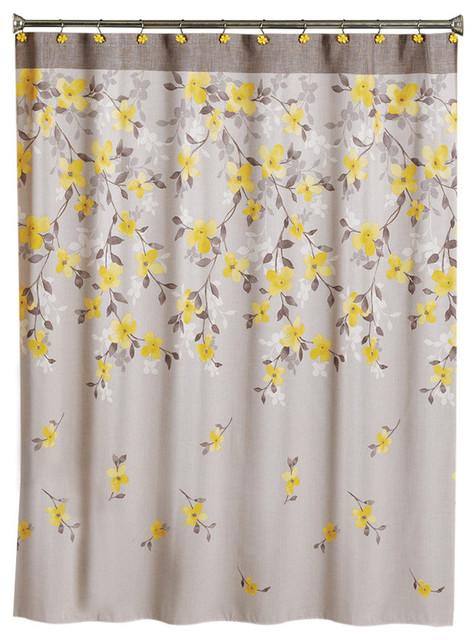 Saturday Knight Spring Garden Floral Shower Curtain Shower