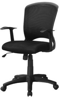 Office Chair, Black Mesh Mid-Back, Multi-Position.