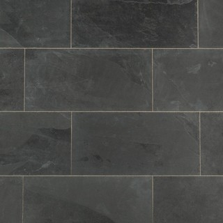 "Natural Janeiro Slate Tile Montauk Black, 12""x24"", 10 Pieces"