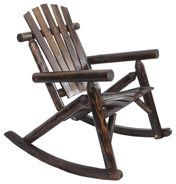 quality design 5e8f7 9f5ae Log Rocking Chair, Burnt