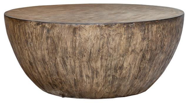 Minimalist Large Round Light Wood, Modern Round Coffee Tables