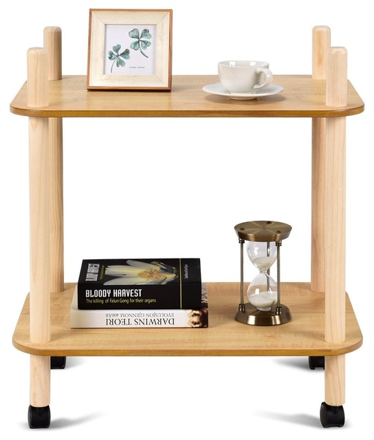 2 Tier Rolling Utility Storage Rack Serving Cart by Unbranded